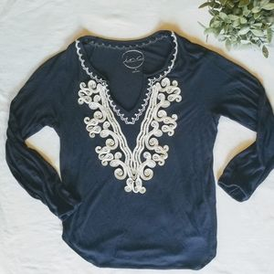 INC embellished boho top